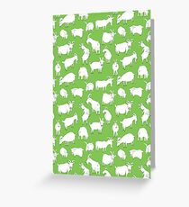 Charity fundraiser - Green Goats Greeting Card