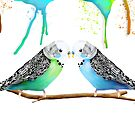 Budgie Love by Karin Taylor