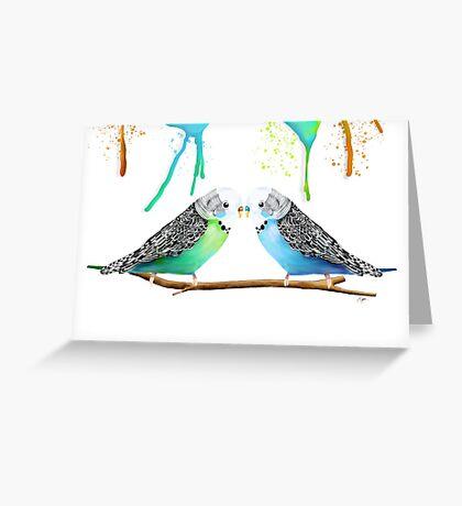 Budgie Love Greeting Card