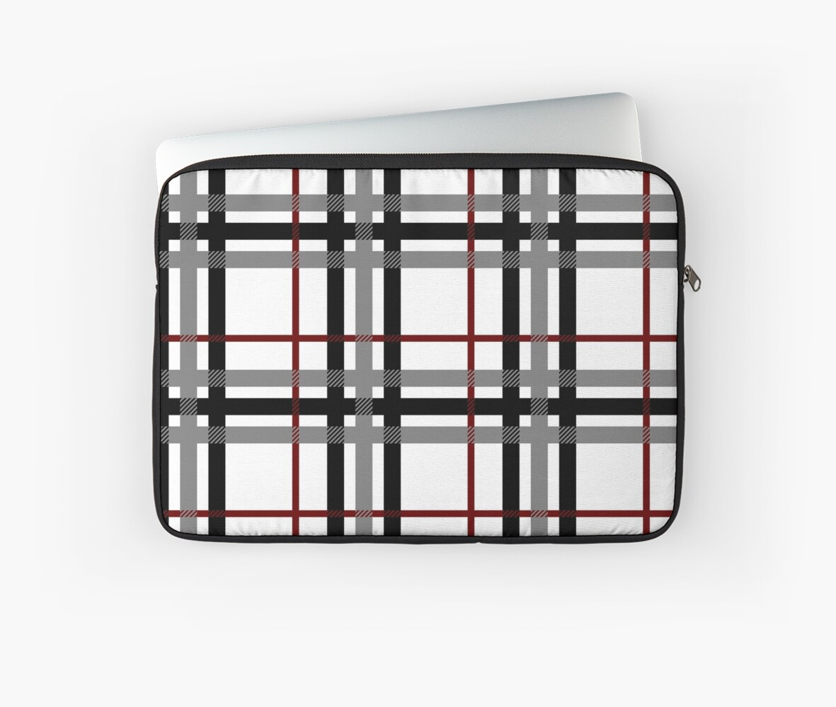 Black White and Red Plaid by Valerie Hartley Bennett