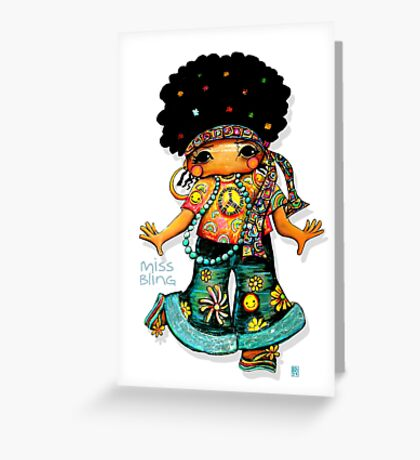 Miss Bling Greeting Card