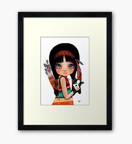 Native Girl Framed Print