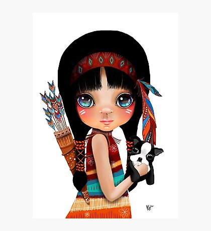 Native Girl Photographic Print