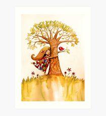 tree hugs Art Print