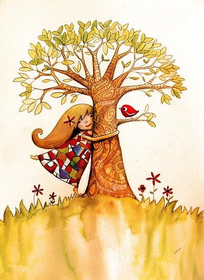 tree hugs by © Karin Taylor