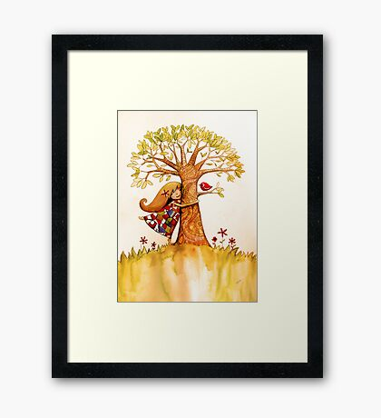 tree hugs Framed Print