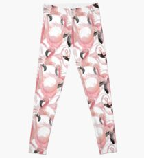 All the Flamingos - Pattern Leggings