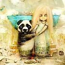 Panda and Snowdrop by Karin Taylor