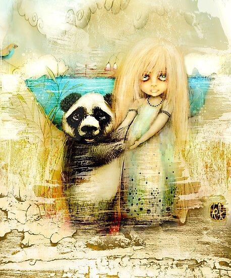 Panda and Snowdrop by © Karin Taylor