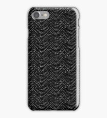 Ink scales - White on black iPhone Case/Skin