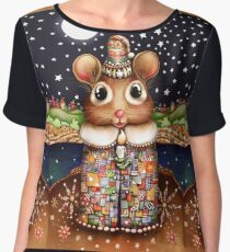 Little Bright Eyes the Radiant Christmas Mouse Chiffon Top