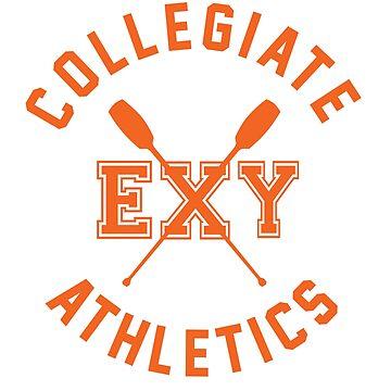 Collegiate Athlectics - Exy (orange) by Kitshunette