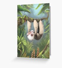 Sloth with Baby Greeting Card