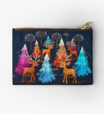 Happy Christmas Trees Studio Pouch