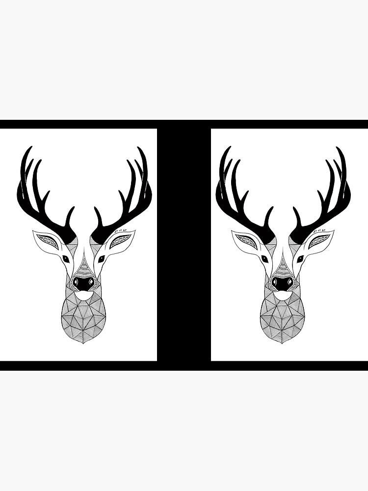 Negro y White Deer de artetbe