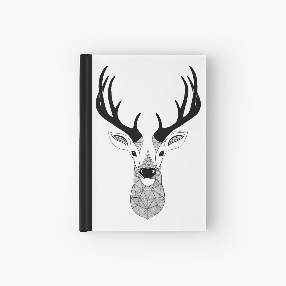 Negro y White Deer Cuaderno de tapa dura