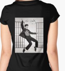 ELVIS, Presley, Jailhouse Rock, King of Rock and Roll, Dance Women's Fitted Scoop T-Shirt