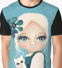 Snow Kitten Graphic T-Shirt