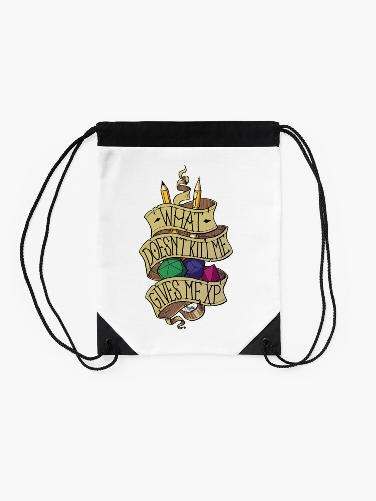 Alternate view of What doesn't Kill me Drawstring Bag