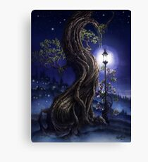 Sylvia and Her Lamp At Dusk Canvas Print