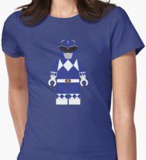 LEGO BLUE POWER RANGER Womens Fitted T-Shirt