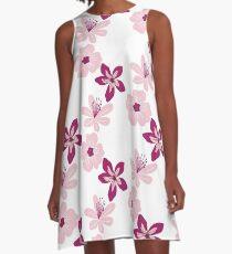 Pink Blossoms A-Line Dress