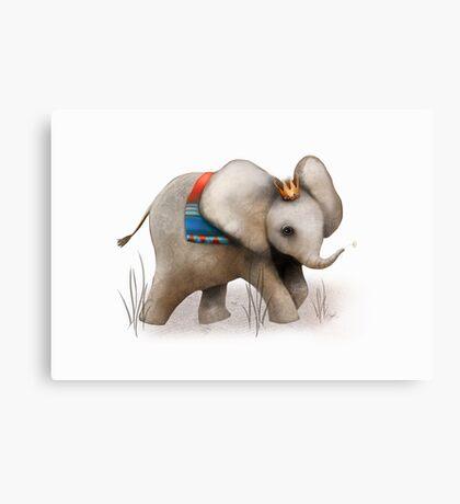The Baby Elephant Prince Canvas Print