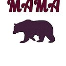 Mother and bear, animal, pet mama bear gift design by chiplanay