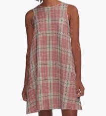 Pink Scottish Clan Tartan #home #lifestyle A-Line Dress