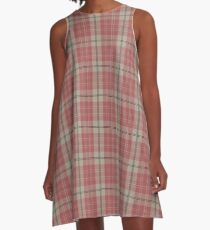 Pink Scottish Clan Tartan #home #lifestyle A-Line Dress