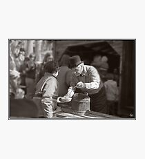 Sugaring Off with Uncle Harry Photographic Print