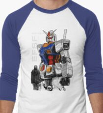 Gundam Men's Baseball ¾ T-Shirt