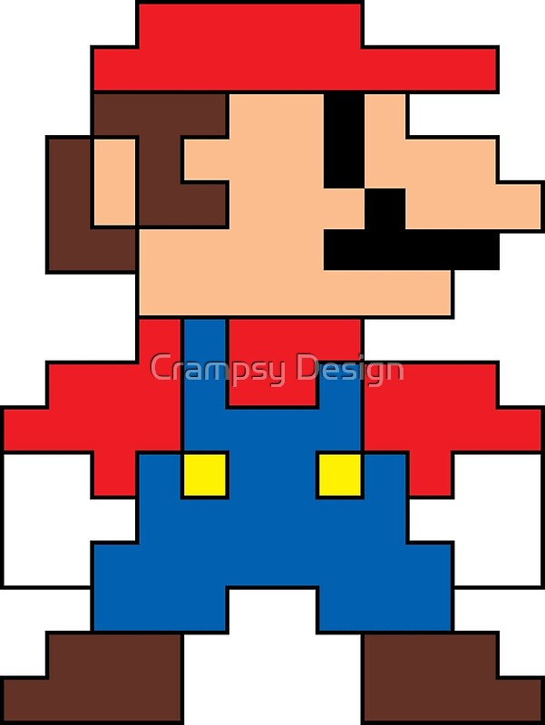 Super mario 8 bit sprite modern colors posters by - Pictures of 8 bit mario ...