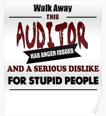 funny Audit Auditor and Angry financial accountant design Poster