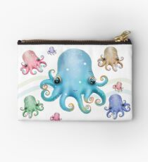 Rainbow Octopus Studio Pouch