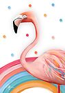 Pink Rainbow Flamingo by Karin Taylor