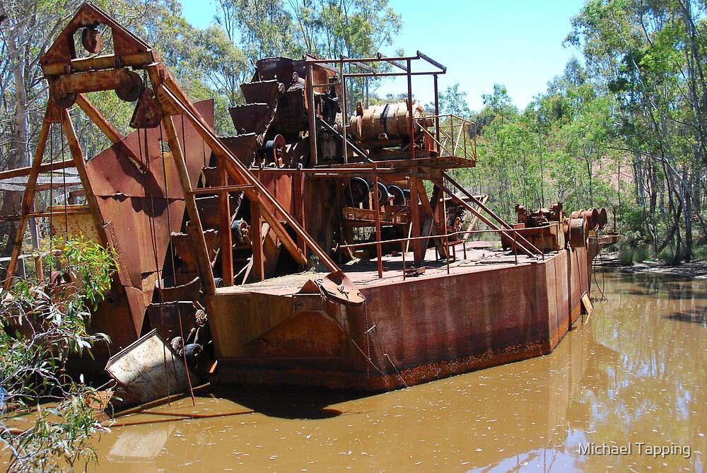 Dredge Circa 1954-1984.  Porcupine Flat - Nr. Bendigo - Australia by Michael Tapping