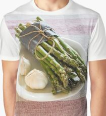 Asparagus and Garlic Graphic T-Shirt