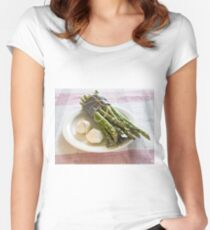 Asparagus and Garlic Women's Fitted Scoop T-Shirt
