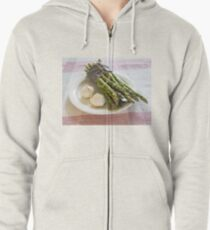 Asparagus and Garlic Zipped Hoodie