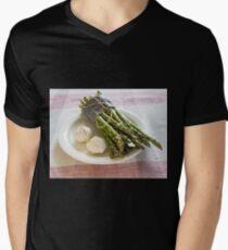 Asparagus and Garlic Mens V-Neck T-Shirt
