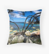Blue Waters, Bay Of Fires, Tasmania Throw Pillow