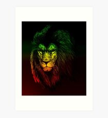 Reggae Lion Art Print