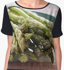 Asparagus Chiffon Top