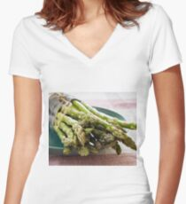Asparagus Women's Fitted V-Neck T-Shirt