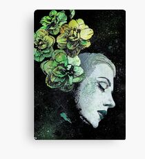 Obey Me (flower girl portrait, spray paint graffiti painting) Canvas Print