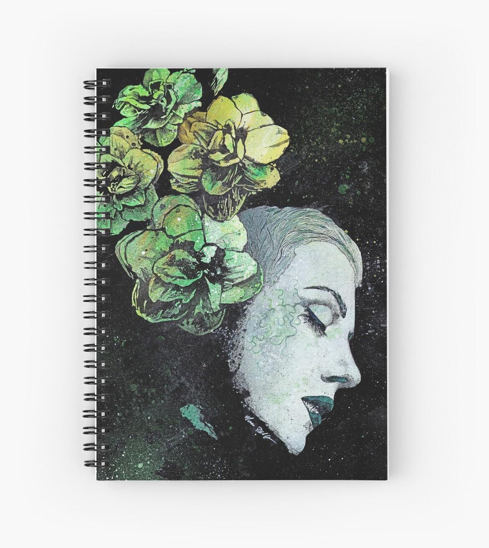 Cuadernos de espiral «Obey Me (retrato de niña de las flores ...