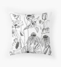 flower parties  Throw Pillow