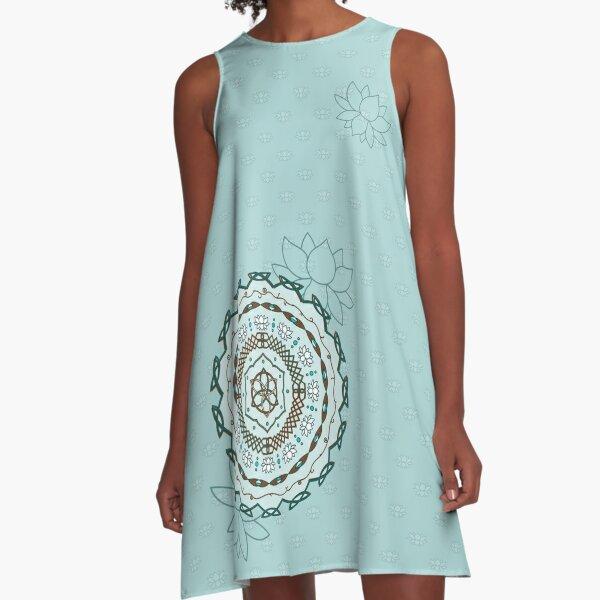 Lotus Weave A-Line Dress