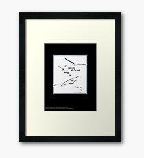 """I Saw a Bird Catch the Wind...""  Framed Print"